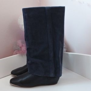 See By Chloe Navy Leather Suede Boots *6